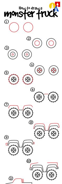 How to draw a truck regalo luis Pinterest Drawing lessons and