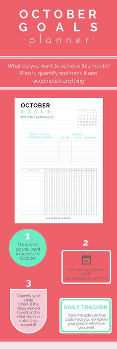 Goal Template  Goal Planner Printable  Life Goals Printable