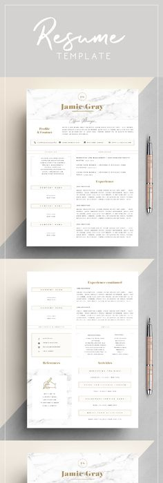 Simple Beautiful Resume Design With Pink Circle For Every Chic
