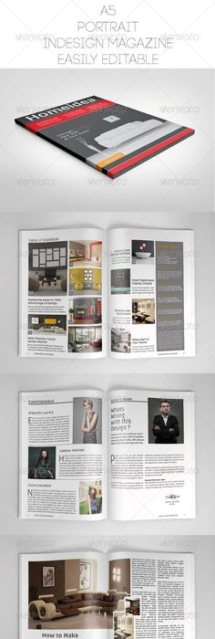 Clean Magazine Template | Indesign magazine templates, Template ...