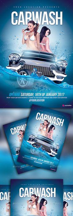 Car Wash Fold Brochure   Car Wash Brochure Template And