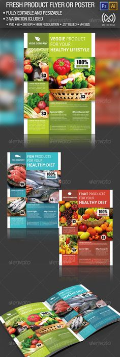 Super Market Products Flyers Bundle  Marketing Products Flyer