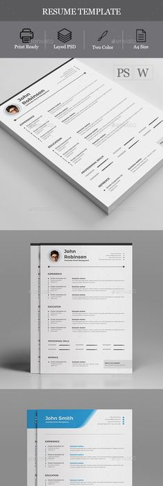 Resume Template PSD, MS Word Download here   graphicrivernet - download resume template