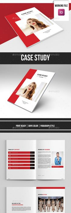 Case Study Booklet  Pages  Brochures Brochure Template And