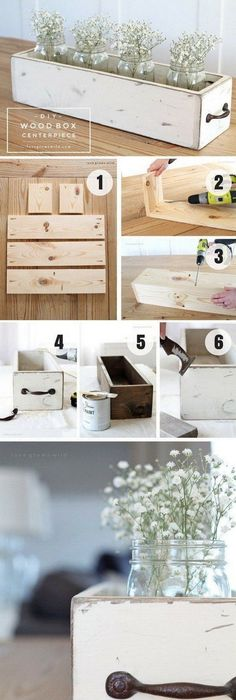 The best do it yourself gifts fun clever and unique diy craft diy wood box centerpiece this wood box with shabby chic look fits in with any f solutioingenieria Choice Image
