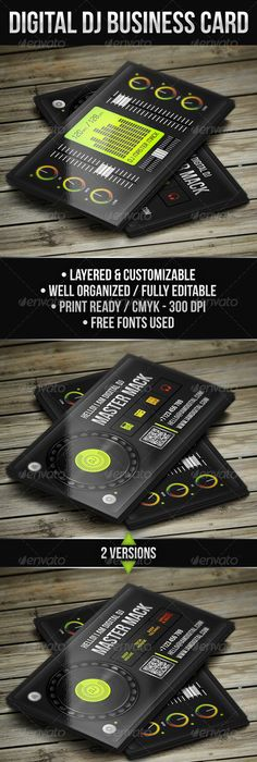 Pro dj business card graphicriver item for sale products i love digital dj business card djcard djbusinesscard businesscard digital dj reheart Images