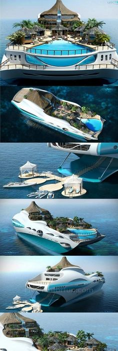 The Super Yacht That Comes With Its Own VOLCANO: Multi Million Pound Boat  Which Is A Paradise Island | Paradise Island, Paradise And Volcano