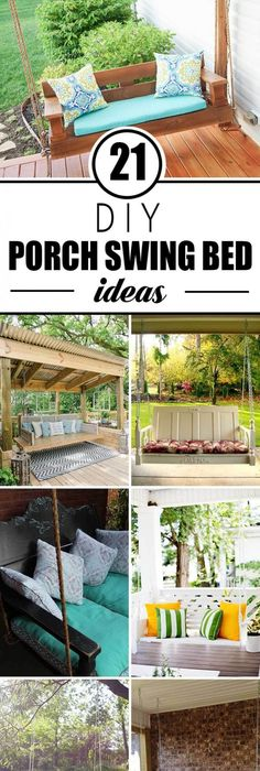 Diy swings best do it yourself swing projects and tutorials for 21 dreamy hanging porch bed ideas solutioingenieria Images