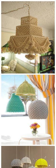 Lampara de Techo de Crochet (Patrones para Crochet) Crochet