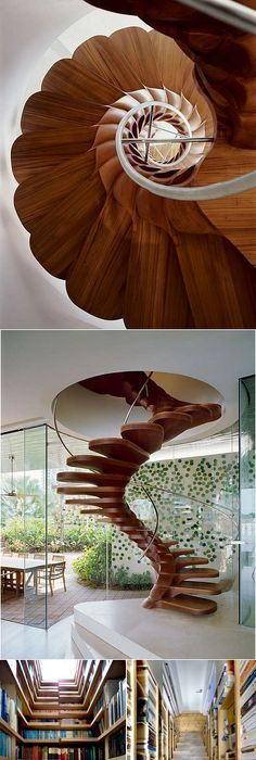 A spiral staircase designed based on the golden ratio