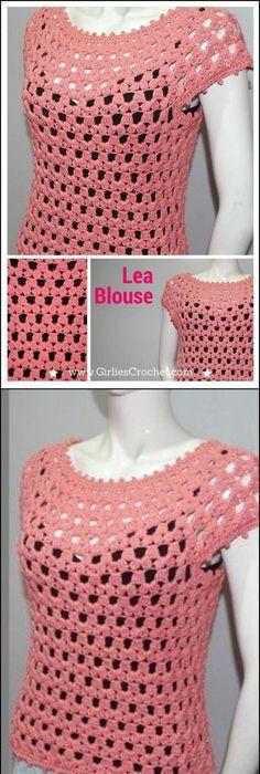 50+ Quick & Easy Crochet Summer Tops - Free Patterns | Heimarbeit ...