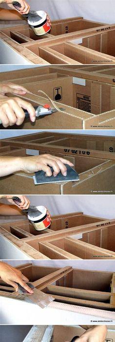 tuto meuble en carton feuille de scrap carton Pinterest Scrap