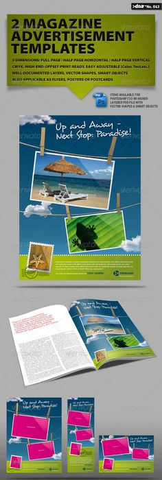 General Purpose Magazine Ad Template  Magazines Print Templates