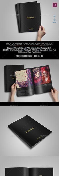 Photographer Portfolio Brochure Template Design Download Http