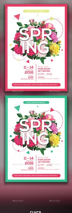 Spring Flyer  Flyer Template Template And Filing