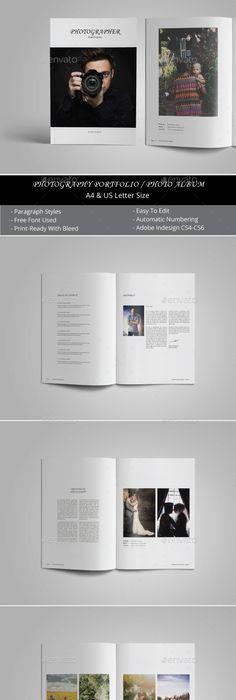 Photography Portofolio Template - Photo Albums Print Templates ...