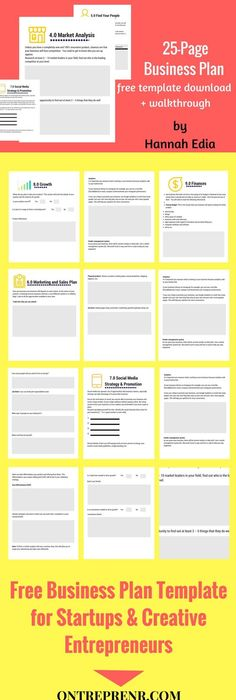 One Page Downloadable Business Plan Template  Night Work