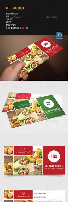 Gift Voucher  Template Gift And Food Graphic Design