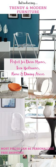 Modern Chairs, Coffee Tables, Magazine Racks, And Other Designer Furniture  Perfect For Your Dorm Room!