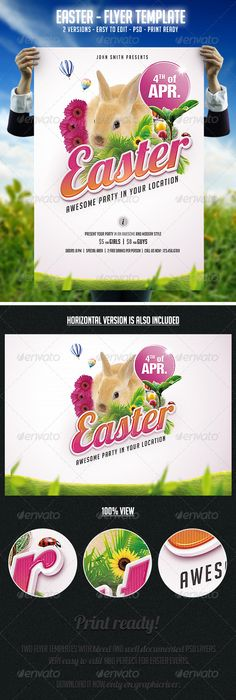 Easter Party Flyer Typo und Fonts Pinterest Easter party