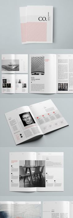Pages Annual Report Template Indesign Indd  A And Us Letter