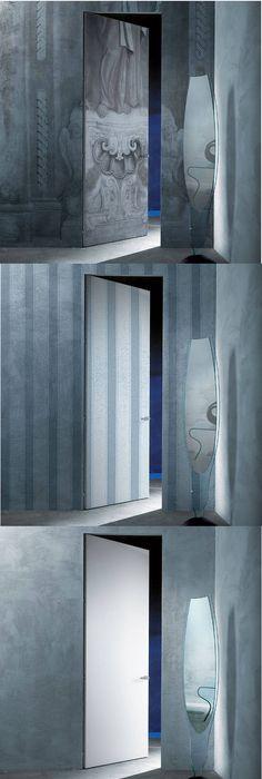 Porte coulissante aluminium gris foncé, verre trempé Atelier ARTENS - poser porte d entree