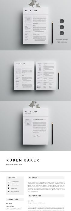 Resume Template for Word, 3 page Resume Templates Resume - resume template for pages