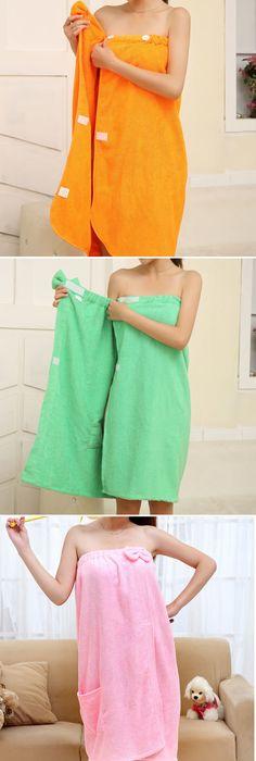 Men/'s Body Wrap Towel Wearable Skirt Shower Spa Bath Beach Towel Bathrobe Pocket