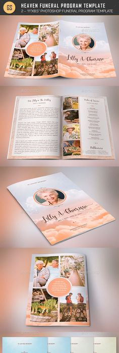 Cherry Funeral Program Template  Program Template Funeral And Cherries