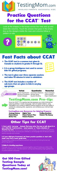 Cogat  Cognitive Abilities Test  WwwTestingmomCom  On Our