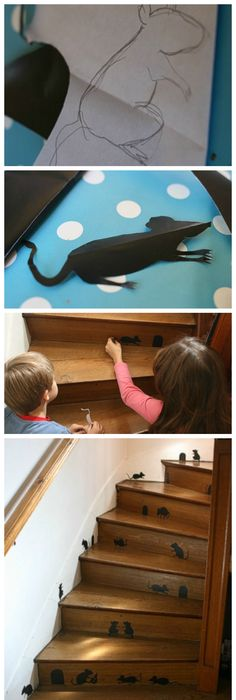 40 Easy to Make DIY Halloween Decor Ideas Stairways, Mice and Display - halloween diy ideas