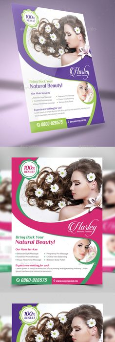 Hair And Beauty Salon Flyer Template  Landisher  Graphic Design