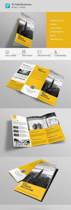 Tri Fold Brochure Indesign Template   Professional Unique Tri Fold Brochure Graphicriver Free Psd For Free