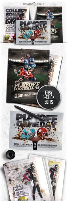 College Bowl Game Day Football Flyer Template  College Bowl Games