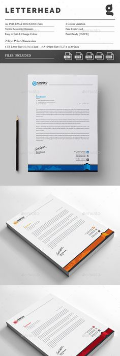 Letterhead design template psd vector eps ai illustrator ms word letterhead design template psd vector eps ai illustrator ms word letterhead design templates pinterest stationery printing letterhead design and spiritdancerdesigns Image collections