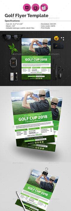 Golf Cup Tournament Flyer Template Print Pinterest Flyer