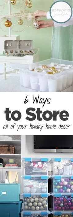 How To Store Holiday Xmas Decorxmas, Home Organization, How To Organize  Your Home Decor, Holiday Home Decor Storage, Home Storage Hacks.