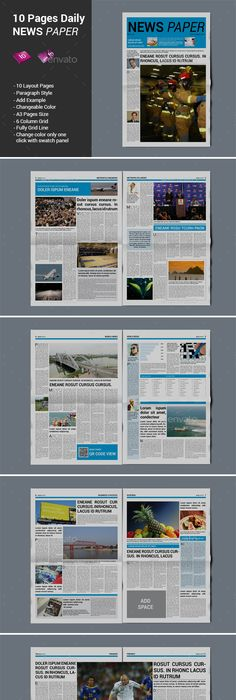 Pages Politics Supplement For NewsPaper Newsletter Templates - Paper newsletter templates