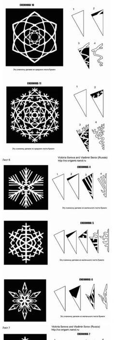 kid craft monday (snowflakes | Paper snowflake template, Snowflake ...