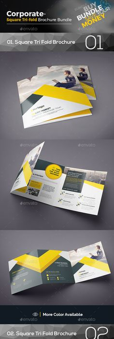 Clean Square Tri Fold Brochure Tri Fold Brochure Brochures And