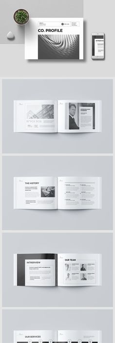 The Company Brochure Template InDesign INDD - 20 Pages | Brochure ...