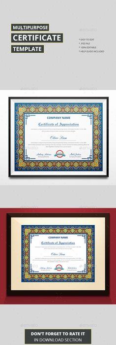 Certificate Template Psd Vector Eps Ai  Certificate Templates