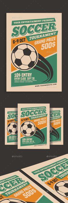 Soccer World Champion Match Flyer  Sports Event Flyer Template