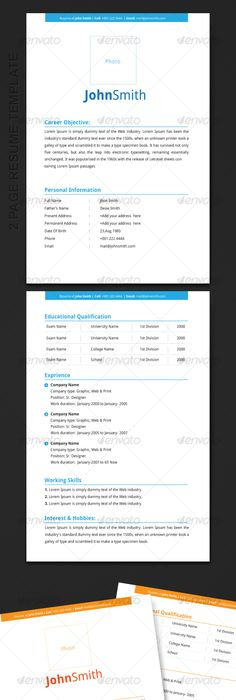 Modern Professional Resume  Professional Resume Template And