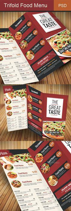 Grill Menu  Free Trifold Brochure  Free Psd Templates  Mockups