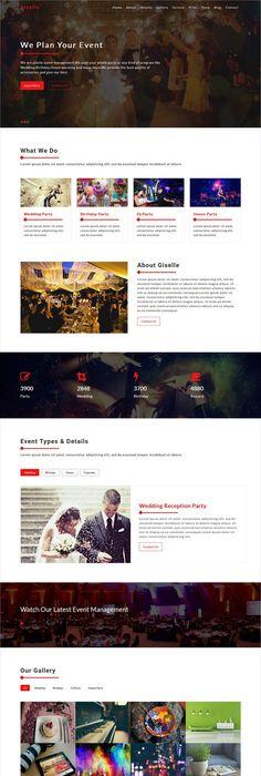 Zevent Big Screenshot   Event design   Pinterest   Event template ...