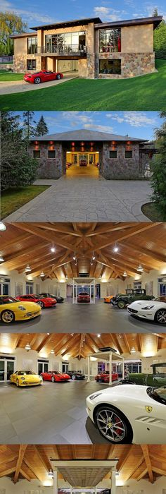 Custom garage design and furnished by vault men cave cave and house incredible auto enthusiast mansion with 16 car garage and built in car elevator solutioingenieria Images