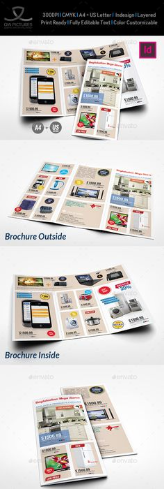 Product Trifold Brochure Brochure template, Brochures and Template