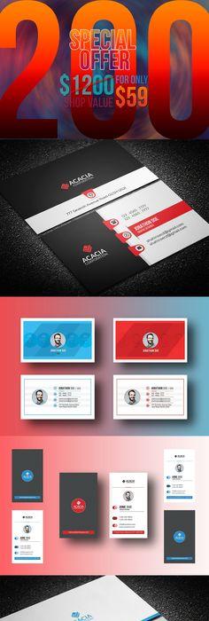 Business cards ivory salon card templates business cards and 200 business cards eps reheart Gallery