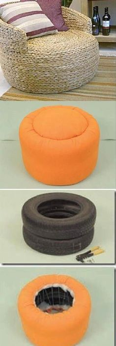 Makhra creativo pinterest tired craft and tyre furniture diy easy tire ottoman diy easy tire ottoman by diyforever oh my goodness this would be perfect for all the tires we have solutioingenieria Images